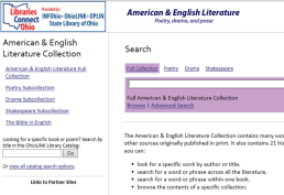 American and English full text literature