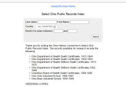 Ohio Death Certificate Index