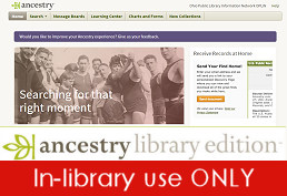 Ancestry Library (In-library use only)