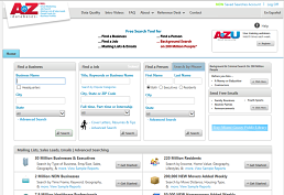 AtoZdatabases: Search Jobs, businesses or mailing lists